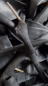 recycled inner tubes for sporran