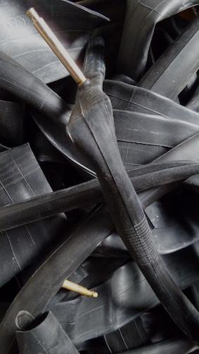 recycled inner tubes for sporran