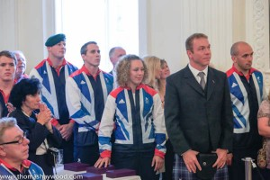 Chris Hoy and team