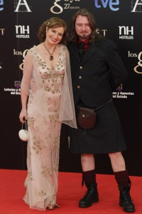Scott Cleverdon + Assumpta Serna at the goyas